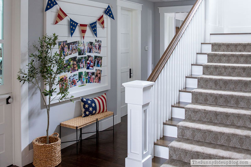 Patriotic Shiplap Wall