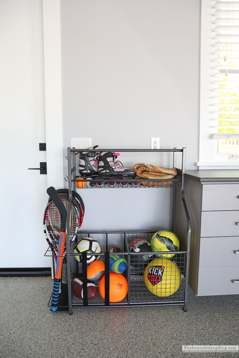 Sports Equipment Organizer (Sunny Side Up)