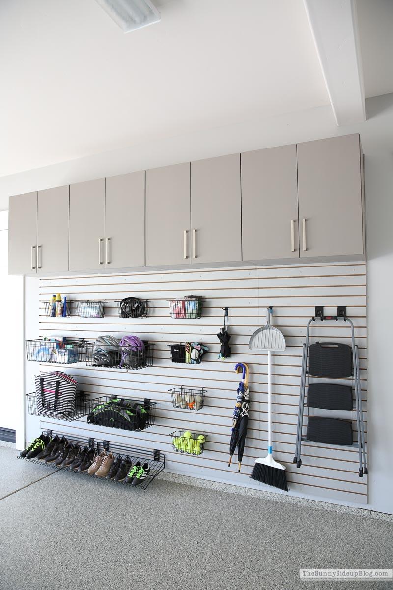 Organized Garage Slat Wall (Sunny Side Up)