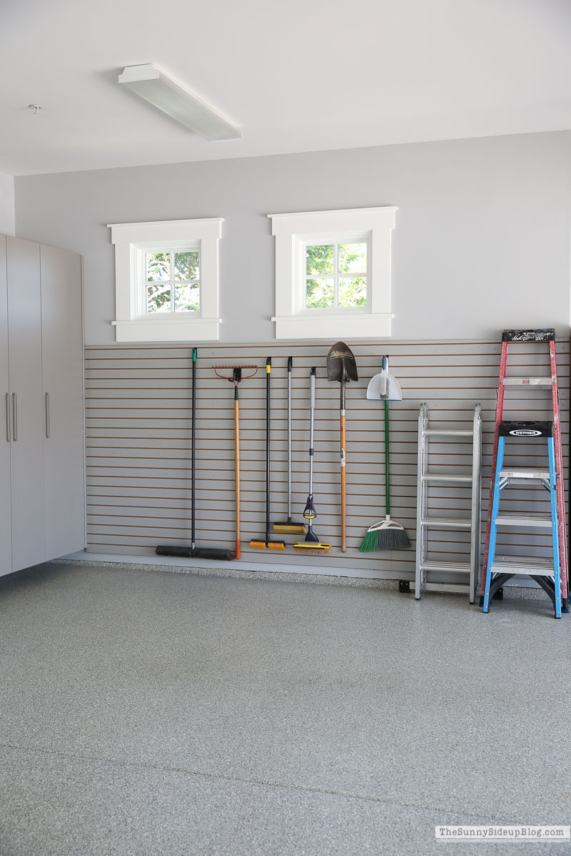 Organized Garage Slat Wall (Sunny Side Up)