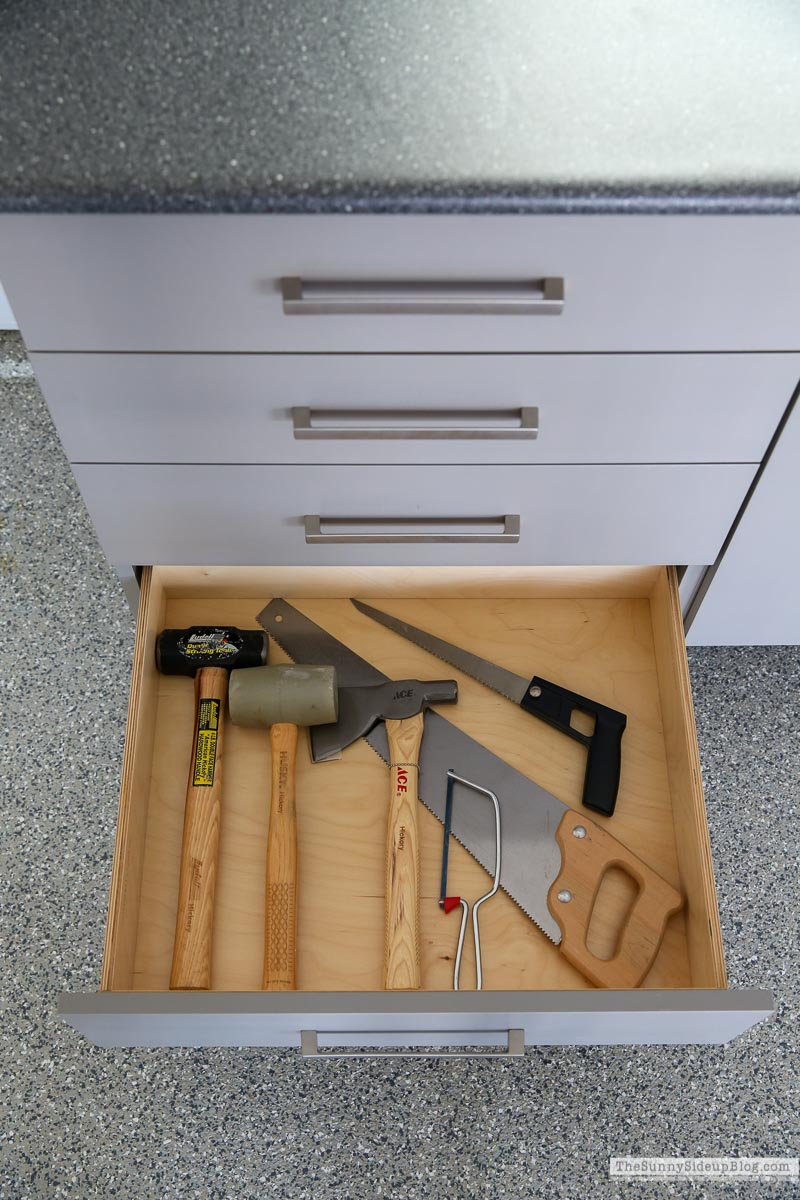 Organized Garage Drawers (Sunny Side Up)