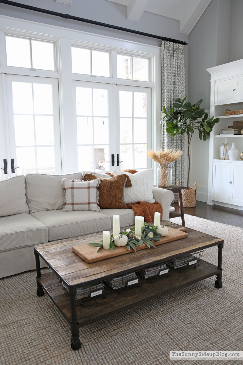 Fall coffee table styling (Sunny Side Up)