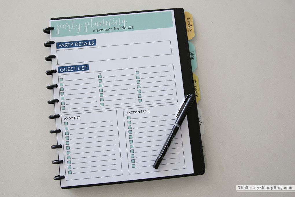 Holiday Planner (Sunny Side Up)