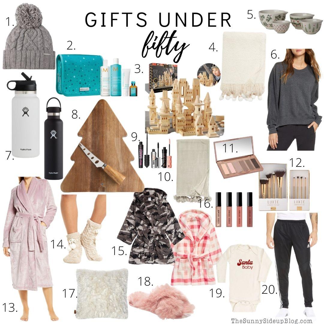 Holiday gifts under $50 (sunnysideup)