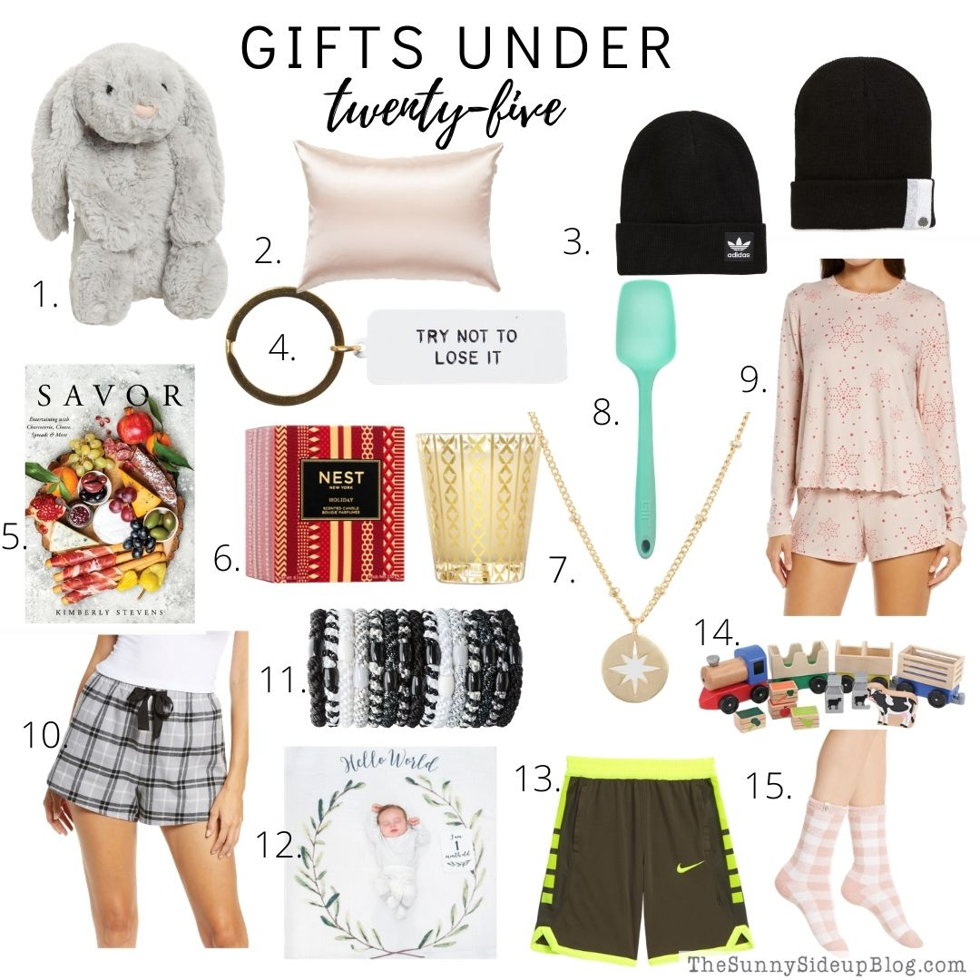 Holiday gifts under $25 (thesunnysideup)