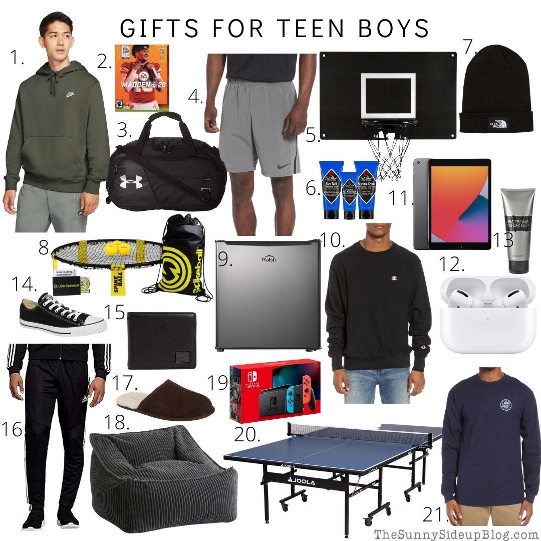 Gifts For Teen Boys (thesunnysideupblog)