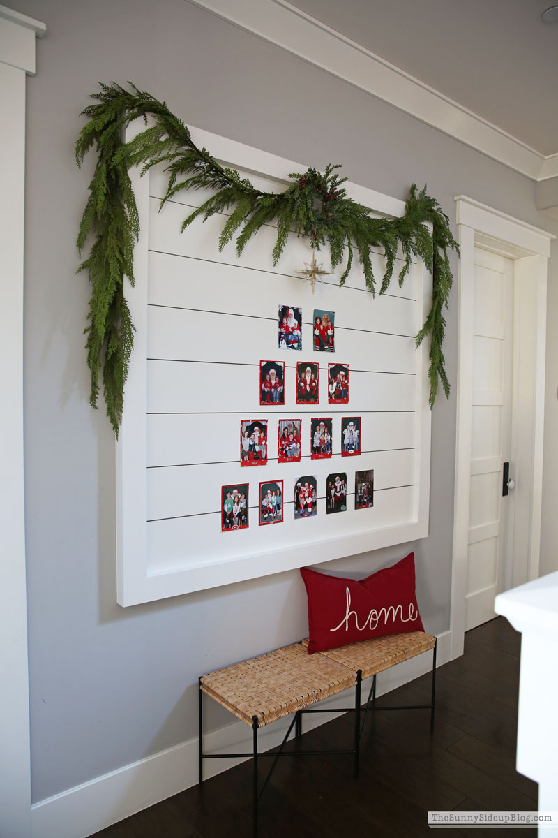 Shiplap Santa picture display (Sunny Side Up)