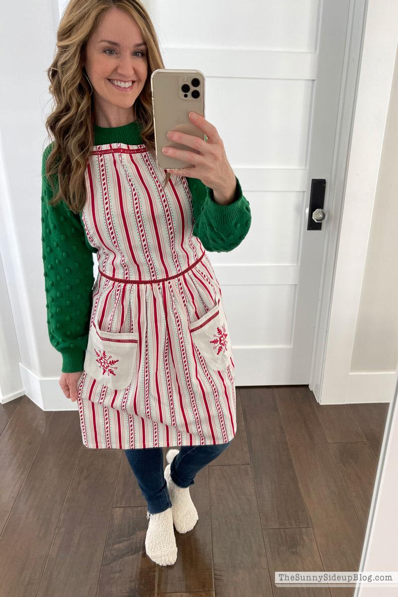 Christmas apron (Sunny Side Up)