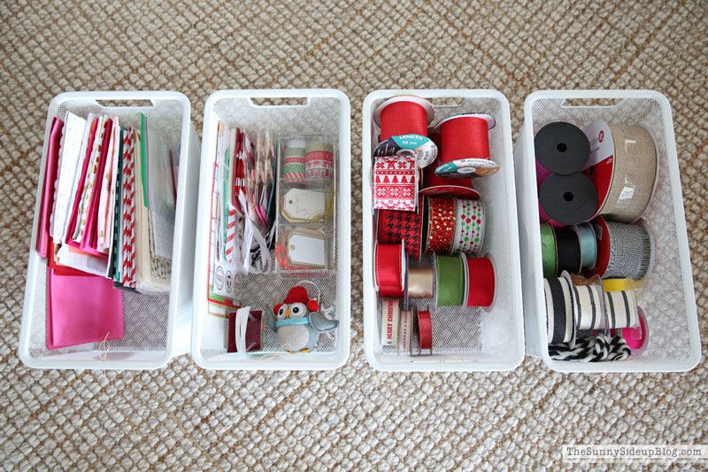 Wrapping Paper Organization (Sunny Side Up)