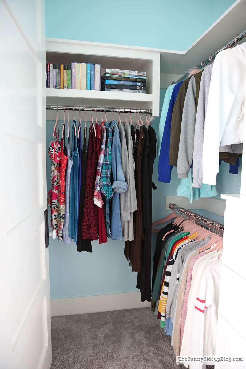 Teen desk and organized closet (Sunny Side Up)
