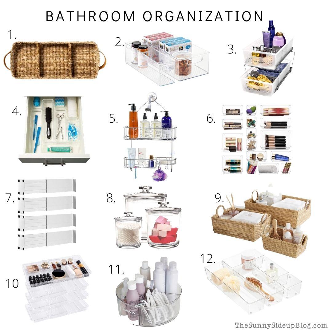Bathroom Organization (thesunnysideupblog.com)