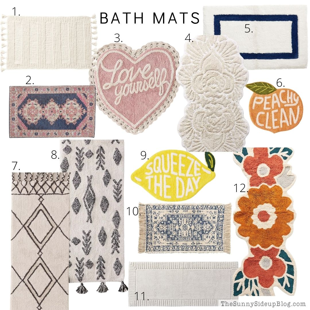 Bath Mats (thesunnysideupblog.com)