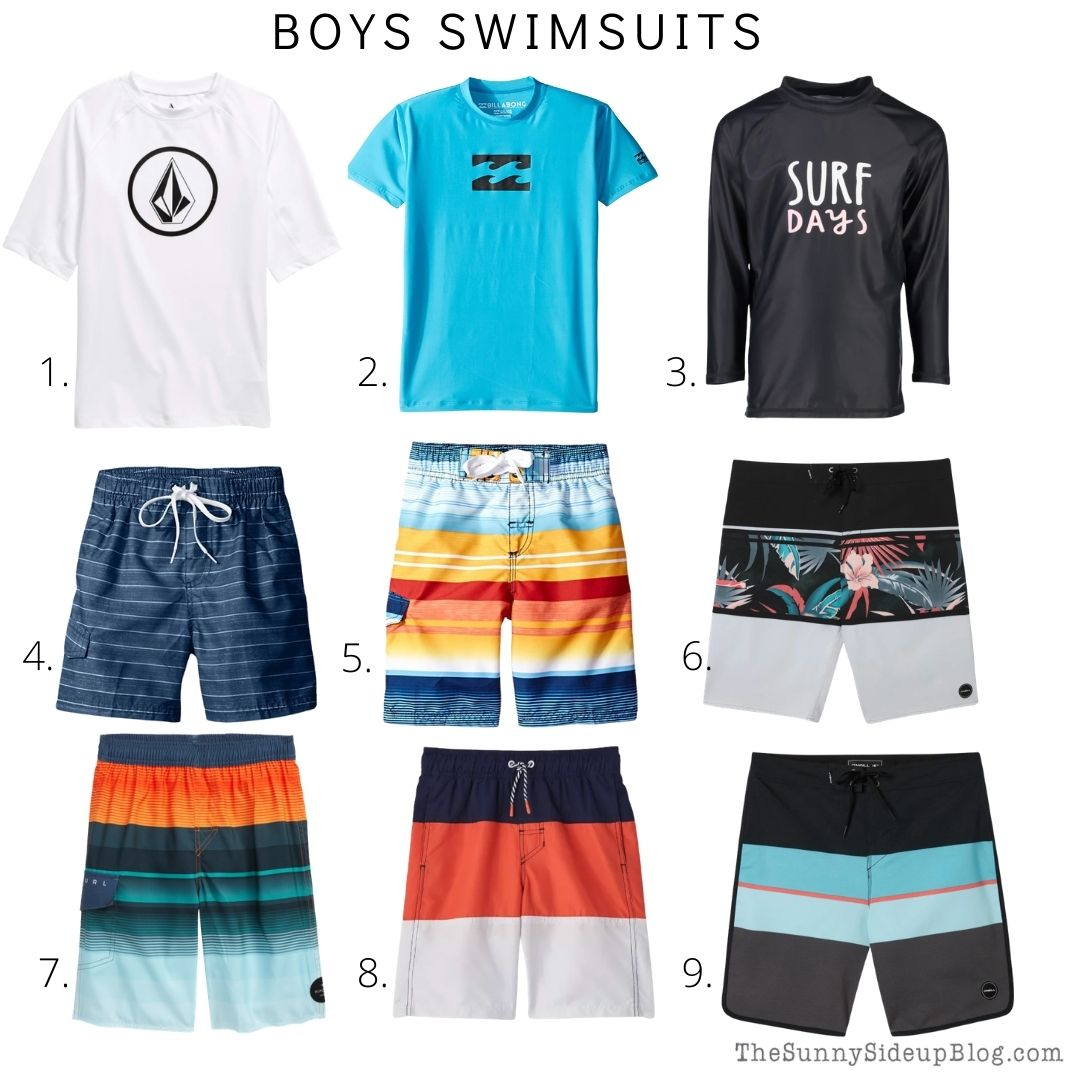 Boys Swimsuits (thesunnysideupblog.com)