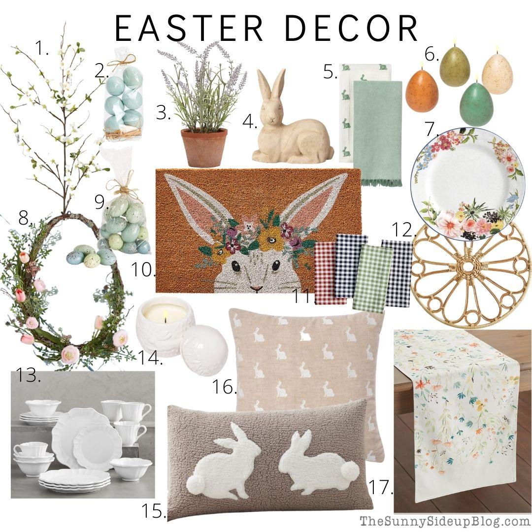 Easter decor and Spring tops! (Sunny Side Up)