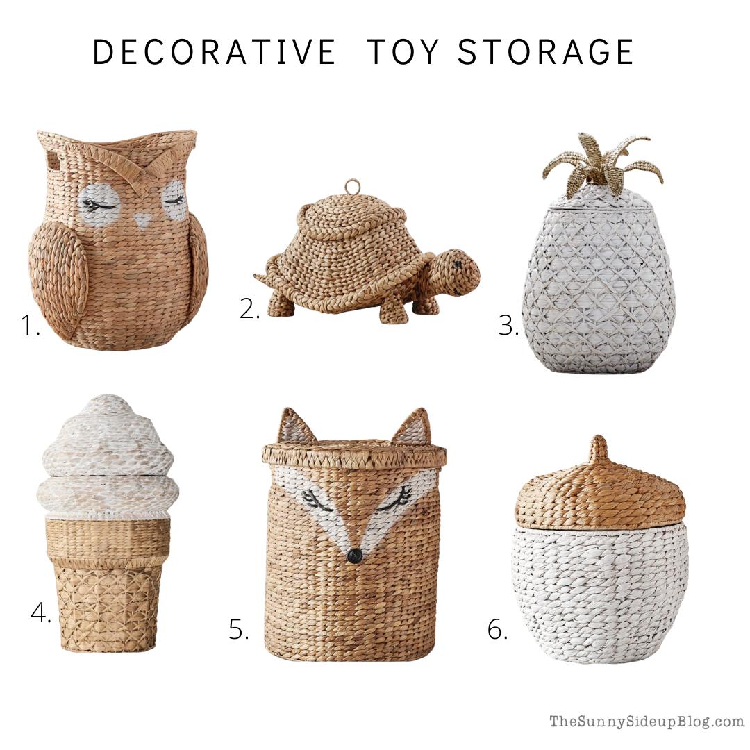 Decorative Toy Storage (thesunnysideupblog.com)