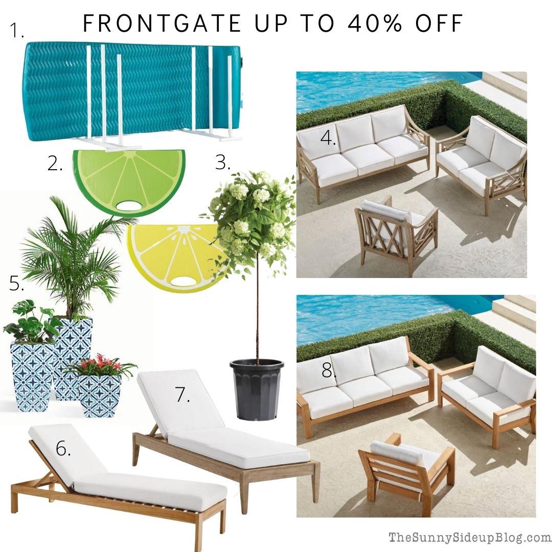 Frontgate sale (thesunnysideupblog.com)