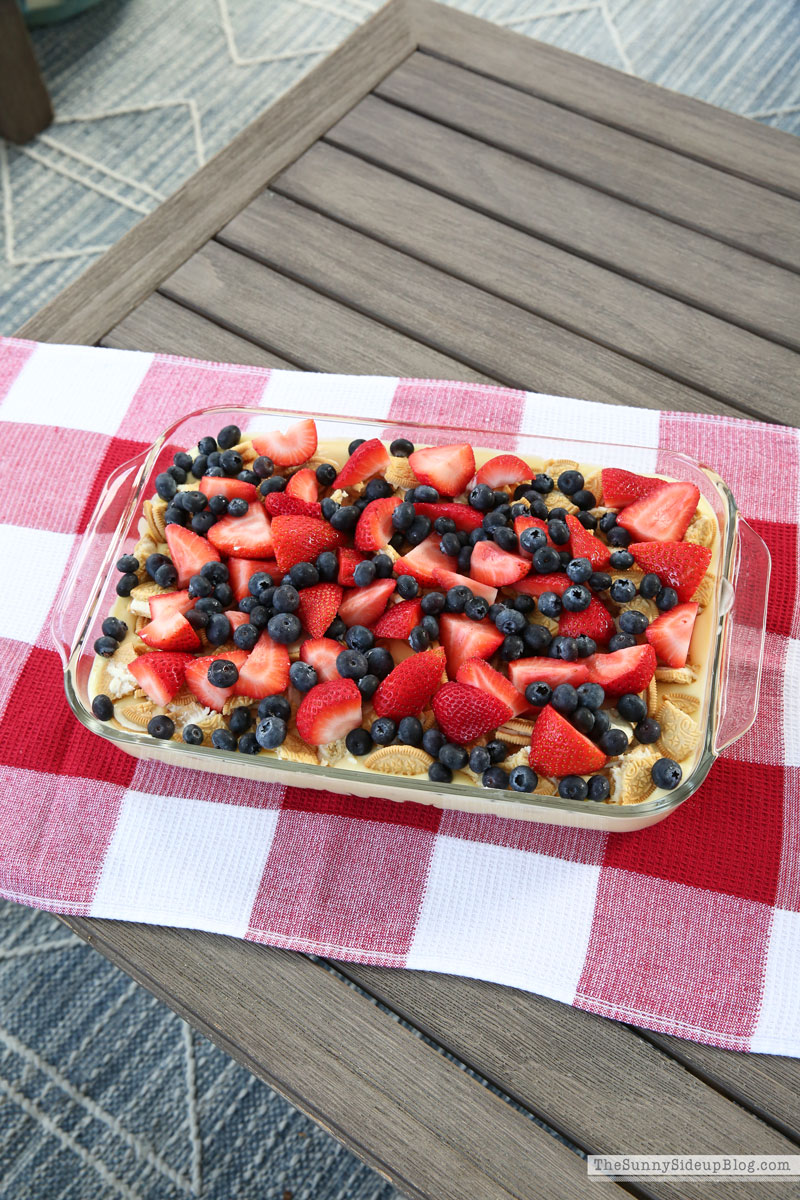 4th of July layered pudding dessert (Sunny Side Up)