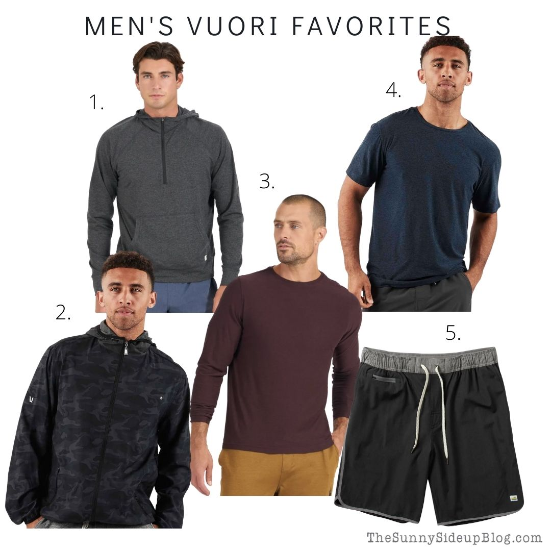 Men's Vuori Favorites (thesunnysideupblog.com)