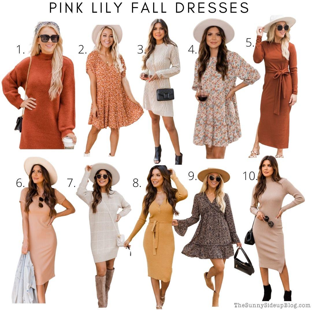 Pink Lily Fall Dresses (thesunnysideupblog.com)