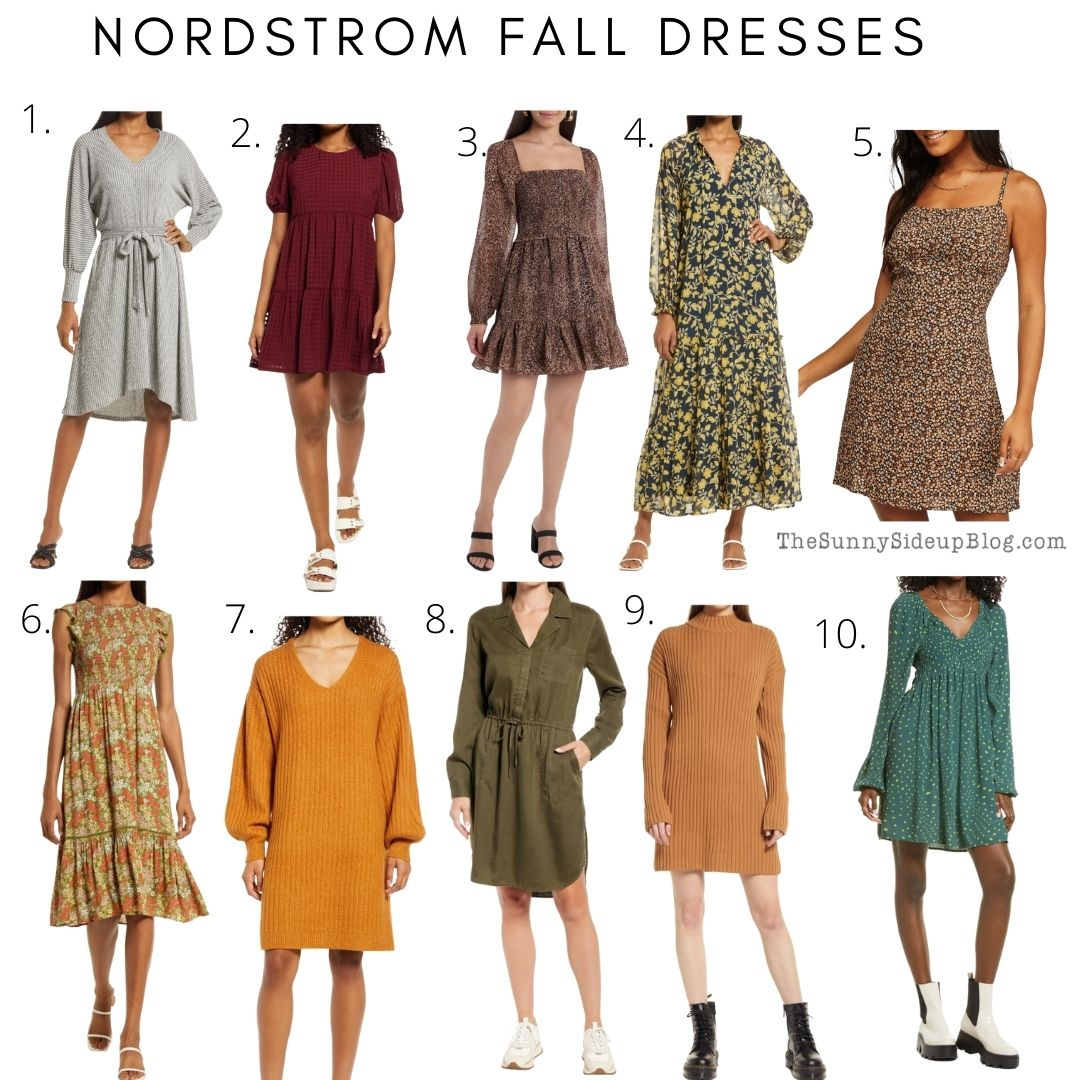 Nordstrom fall dresses (thesunnysideupblog.com)