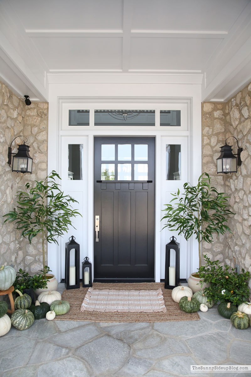 Green and White Fall Porch (Sunny Side Up)